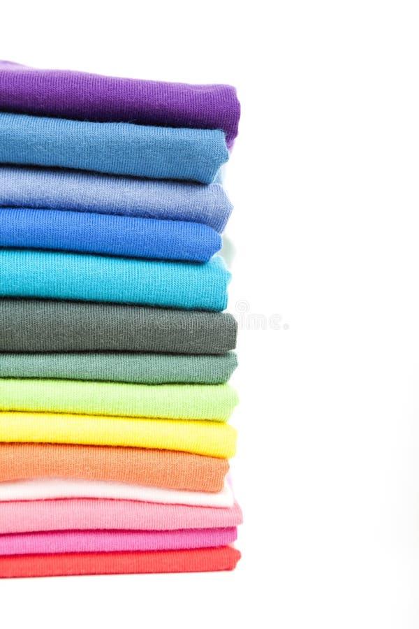 Kolorowe koszulki fotografia stock