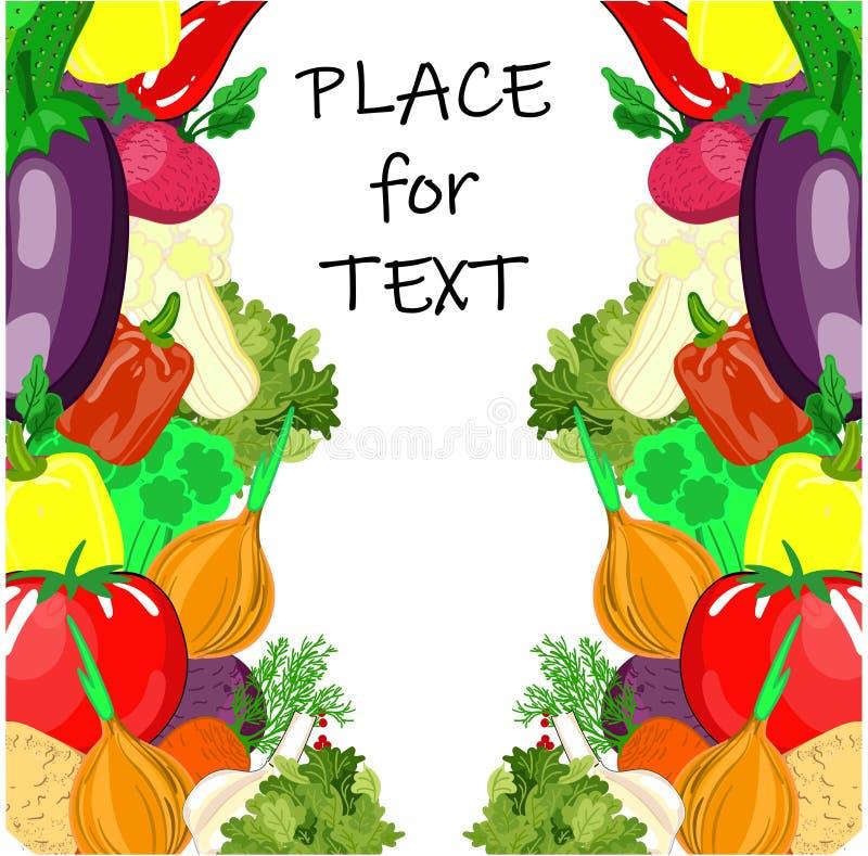 Kolorowe kreskówek warzyw ikony w round odizolowywającym na bielu Wektorowa ilustracja świeży organicznie jarzynowy sztandar używ ilustracja wektor