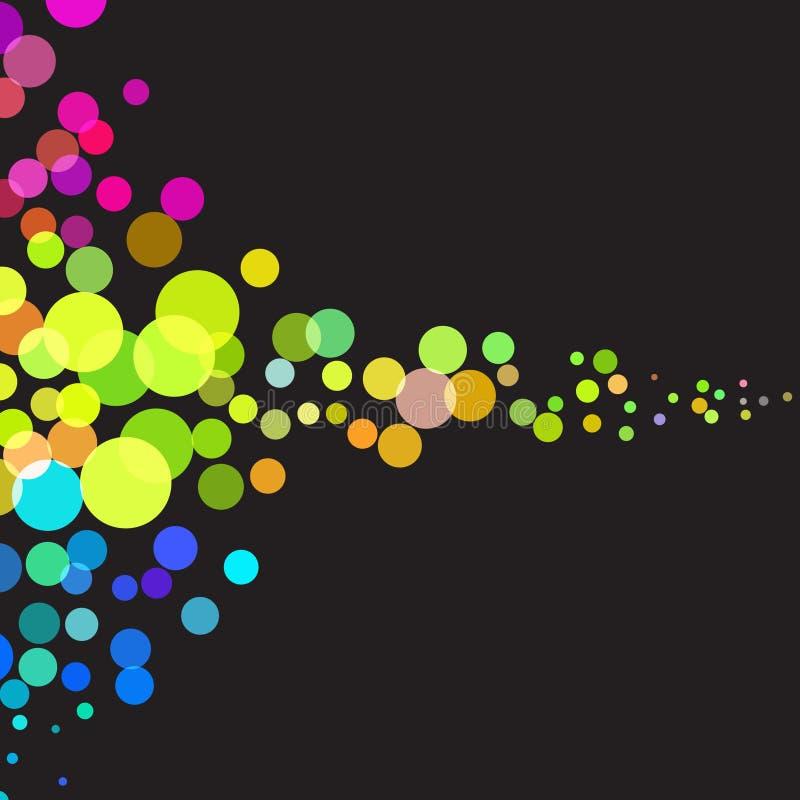 kolorowe kropki płyną retro ilustracja wektor