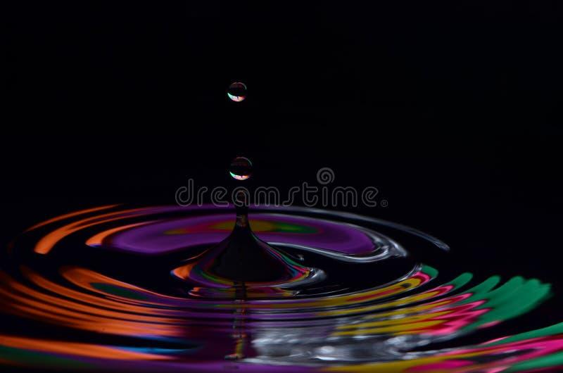 Kolorowe krople obraz stock