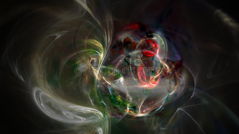 Kolorowe krzywy i dymny abstrakcjonistyczny tło fotografia stock