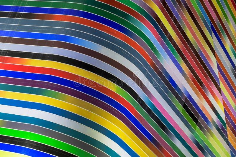 Kolorowe krzywy w w centrum Miami obraz royalty free