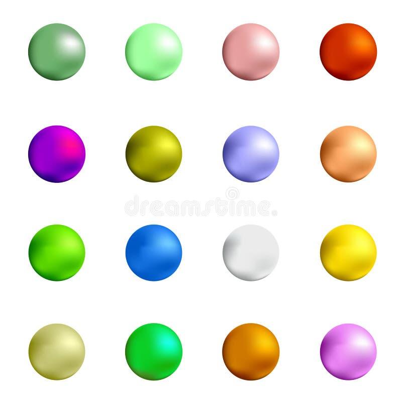 kolorowe kulka gumy do żucia royalty ilustracja