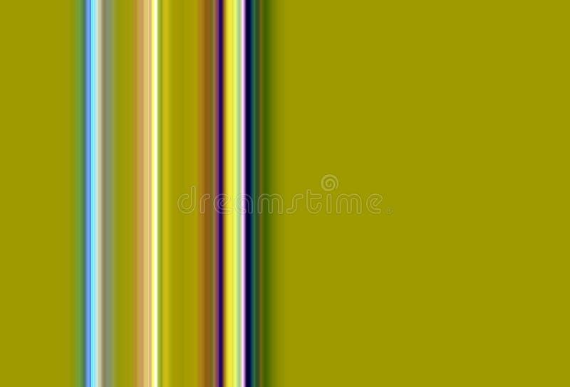 Kolorowe linie i złoty kontrastów kształtów tło w pastelowych odcieniach royalty ilustracja