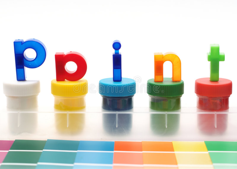 kolorowe liter farby farb papieru próbek wody zdjęcia royalty free