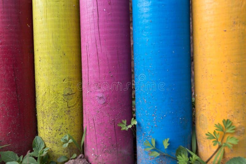 Kolorowe malować drewniane poczta obrazy royalty free