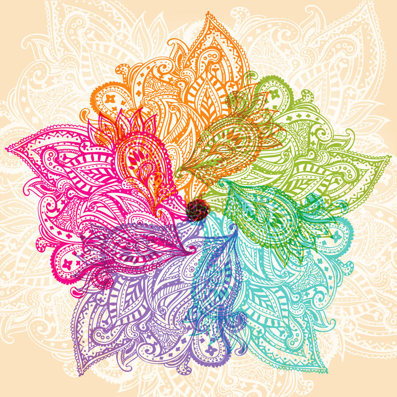 kolorowe mandala ilustracja wektor