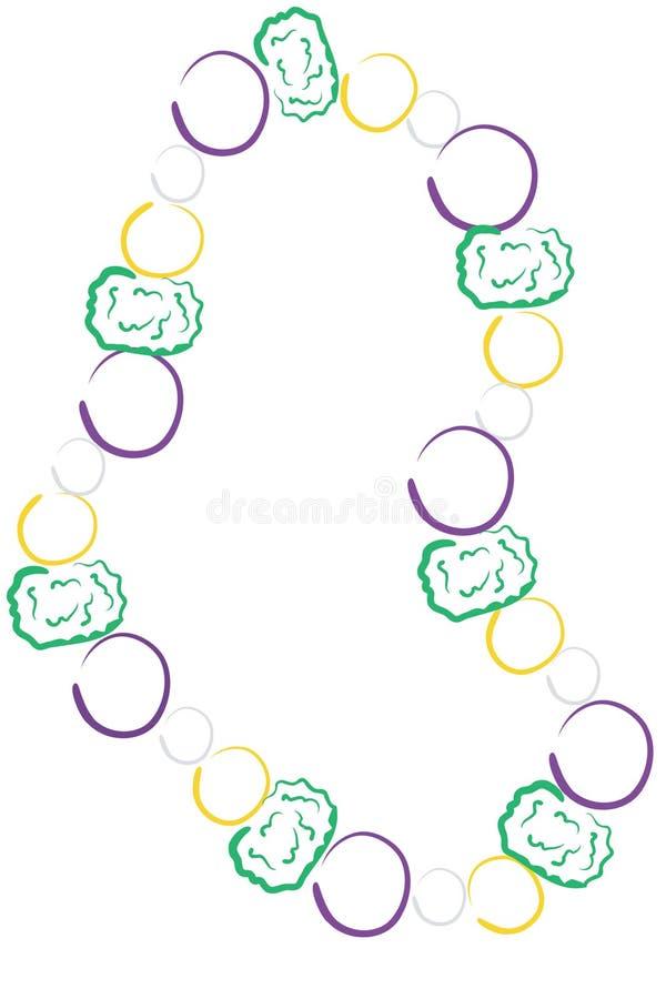 kolorowe mardi gras koraliki, ilustracji