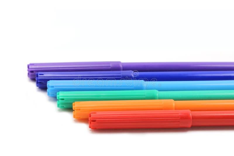 kolorowe markery ustawione obrazy stock