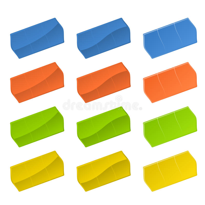 kolorowe metki ilustracji