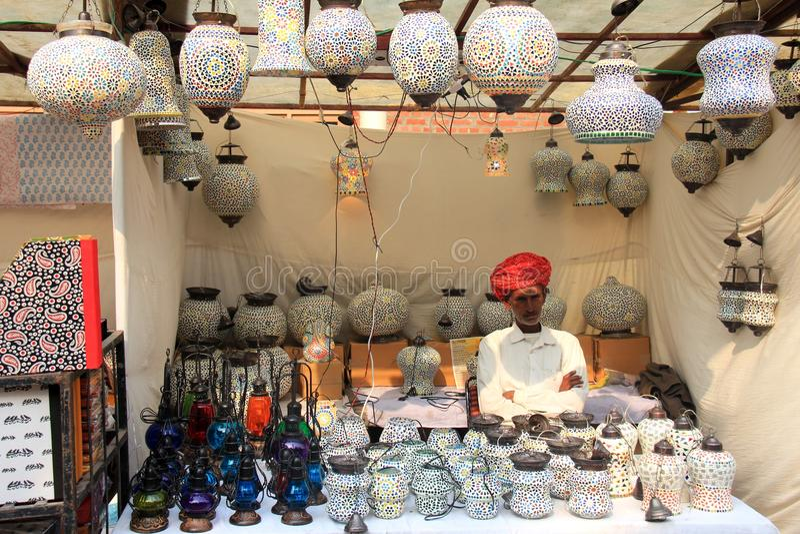 Kolorowe mozaiki szkła lampy ręcznie robiony fotografia royalty free