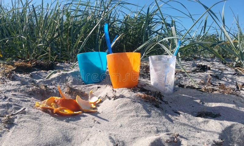 kolorowe na plaży zdjęcia stock