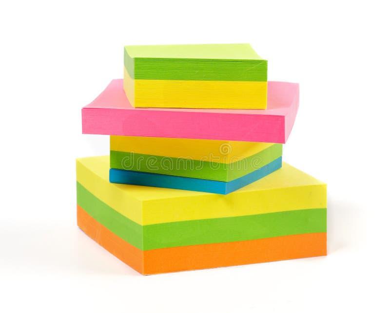 kolorowe notatki brogują kleistego zdjęcie stock