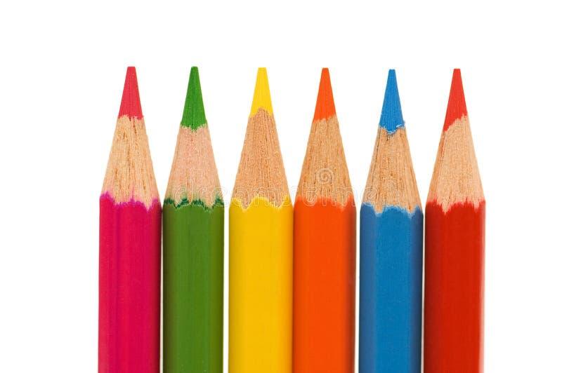 kolorowe ołówki pojedyncze tło białe zdjęcie stock