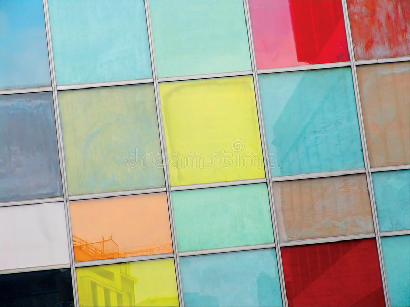 kolorowe okno obraz stock