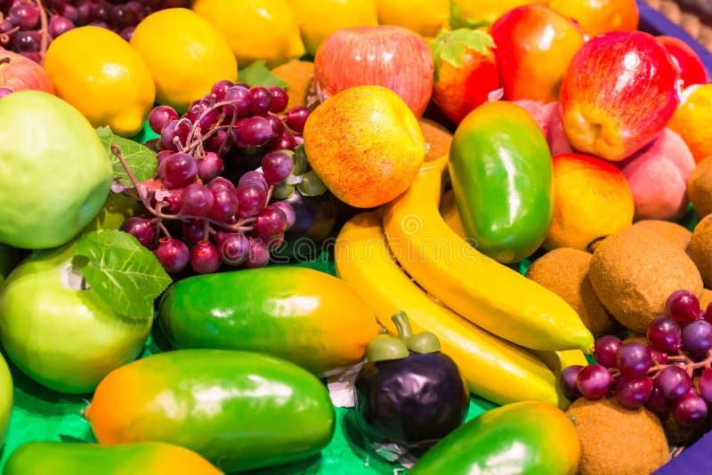 Kolorowe owoc kopie i warzywa tło zdjęcie royalty free
