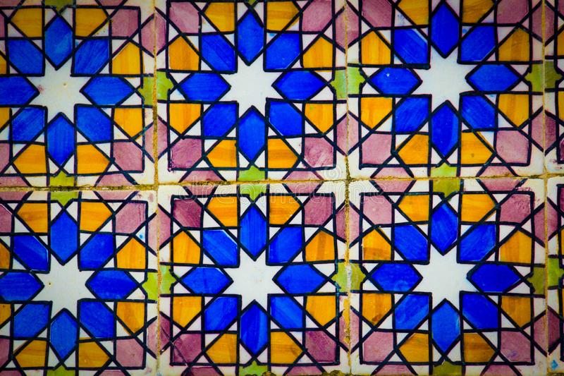 Kolorowe płytki, portuguese styl fotografia royalty free