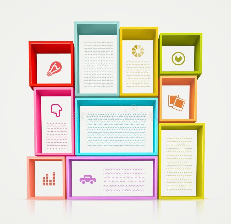 Kolorowe półki ilustracja wektor