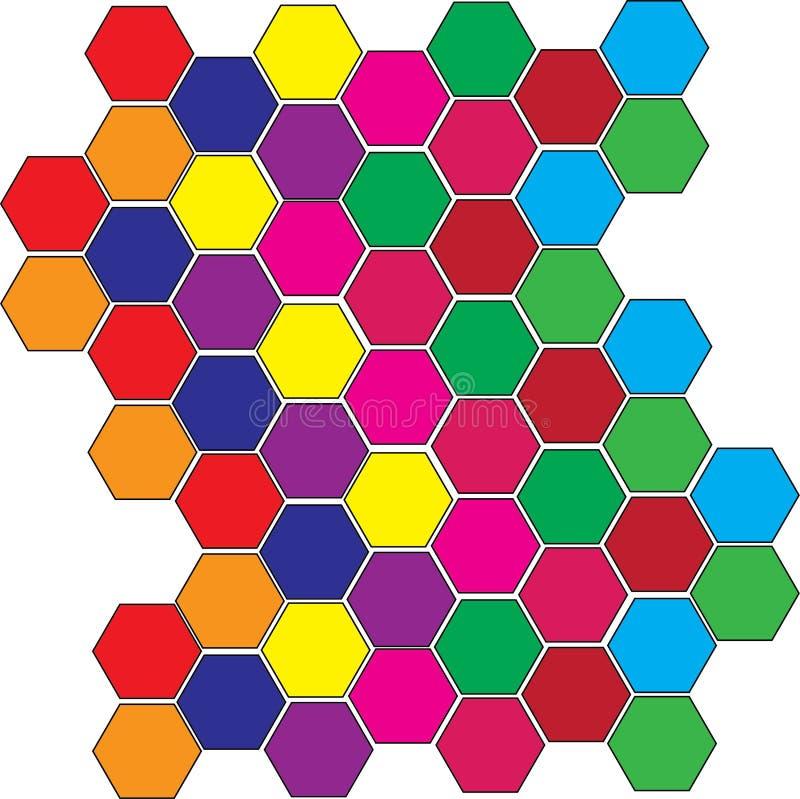 Kolorowe płytki ilustracja wektor