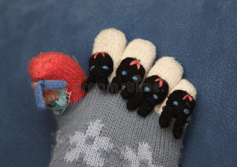 kolorowe palców nogi skarpety obraz stock