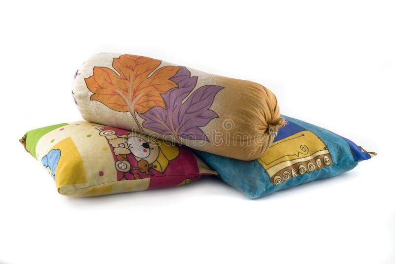 kolorowe palowe poduszki trzy zdjęcia royalty free