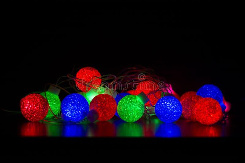 Kolorowe piłki światło zdjęcie stock