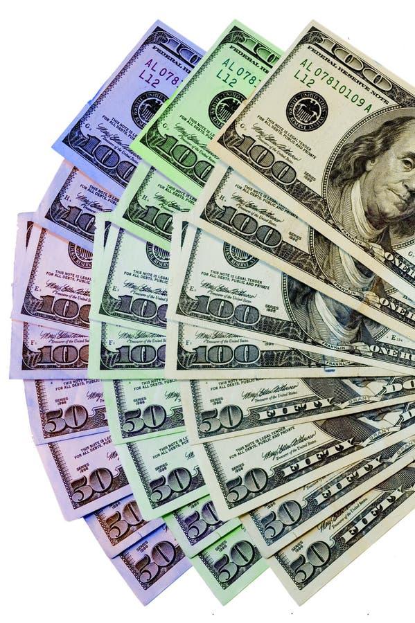 kolorowe pieniądze fotografia stock