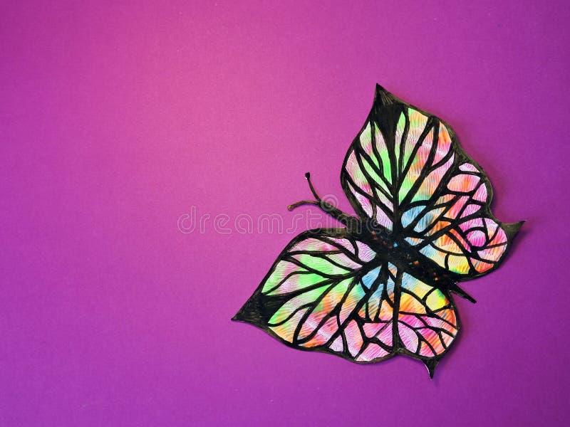 Download Kolorowe pomalowane motyla obraz stock. Obraz złożonej z zwierzę - 53778073