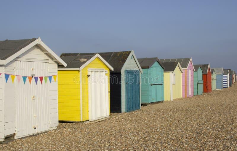 kolorowe pomieszczenia plażowych zdjęcia stock