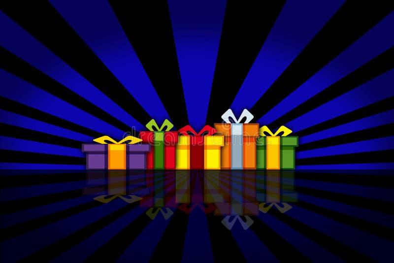 kolorowe prezent ilustracja wektor