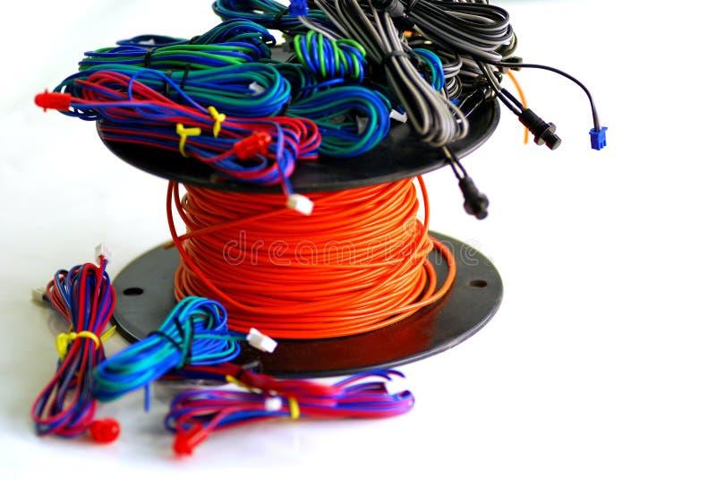 kolorowe przewód obraz stock