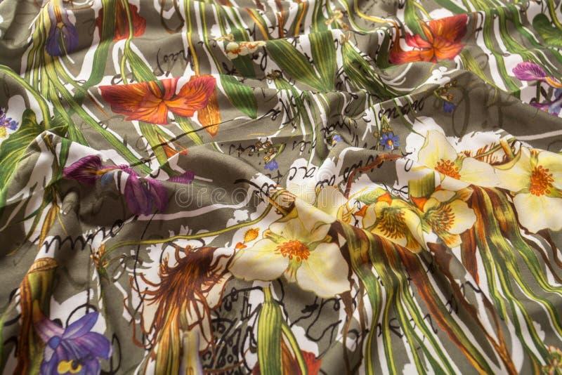 Kolorowe pstrobarwne tkaniny zdjęcia stock