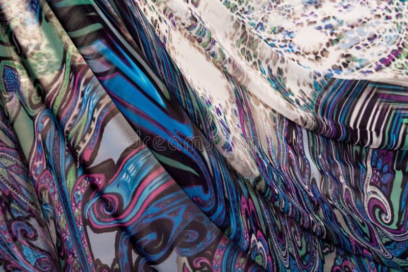 Kolorowe pstrobarwne tkaniny obraz stock