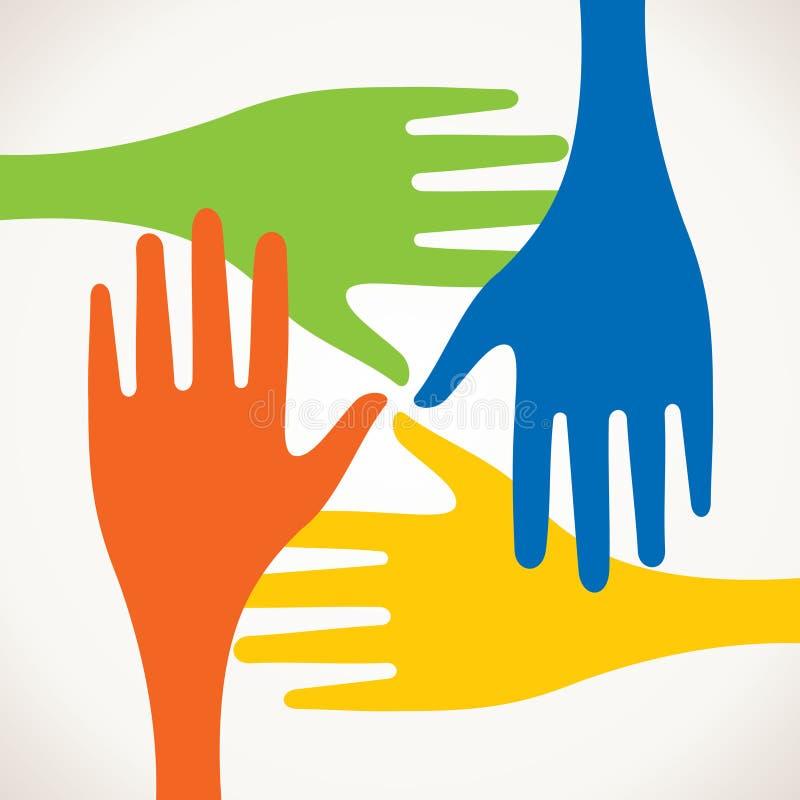 Kolorowe ręki ilustracji
