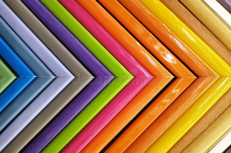 Kolorowe ramy pleśnieje próbki obrazek tło szczegółów tekstury okno stary drewniane obrazy royalty free