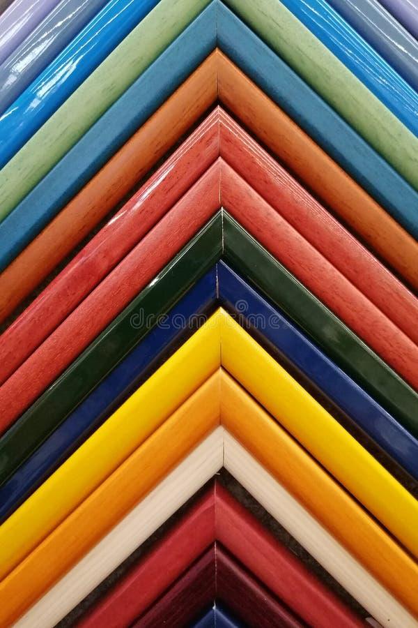 Kolorowe ramy pleśnieje próbki obrazek tło szczegółów tekstury okno stary drewniane zdjęcia stock