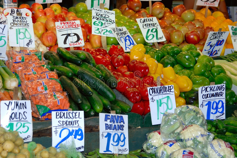 kolorowe stanąć warzyw zdjęcie royalty free