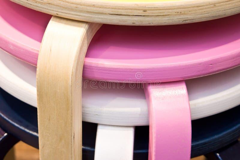 Kolorowe stolec zdjęcia stock