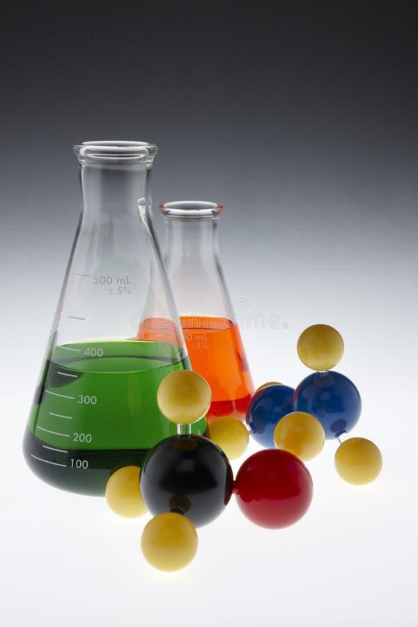 kolorowe substancj chemicznych molekuły zdjęcie royalty free