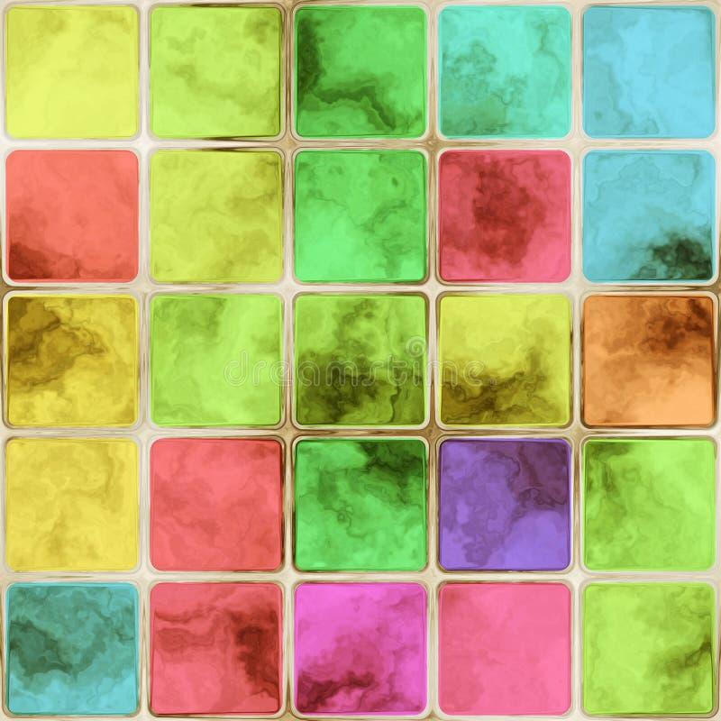 kolorowe szkło kafli royalty ilustracja