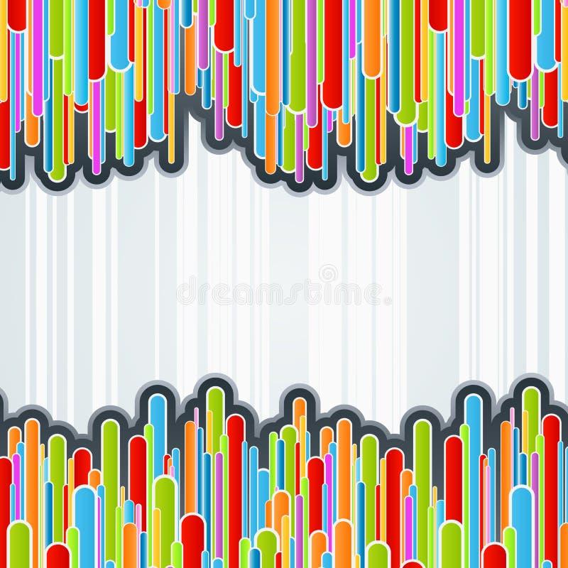 kolorowe tła kolumny ilustracji