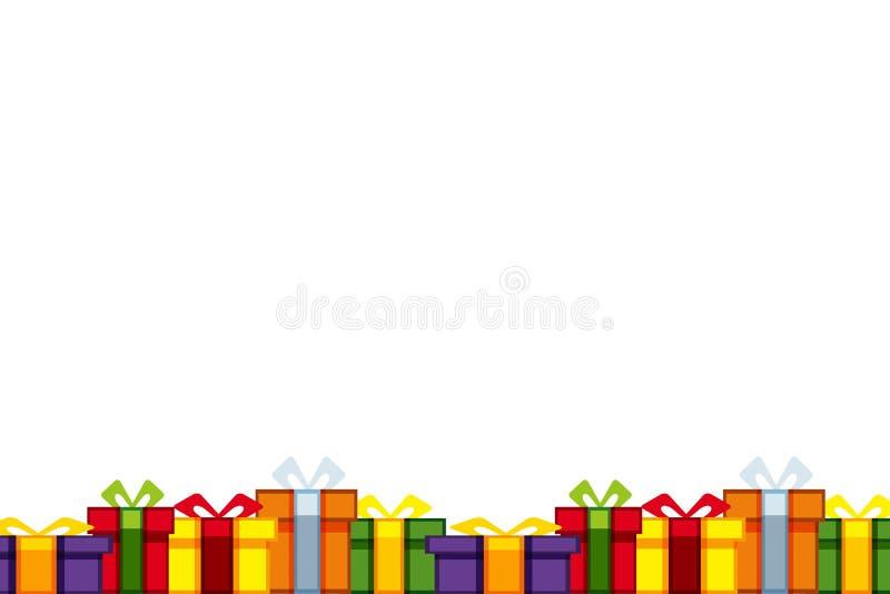 kolorowe tła prezent ilustracji