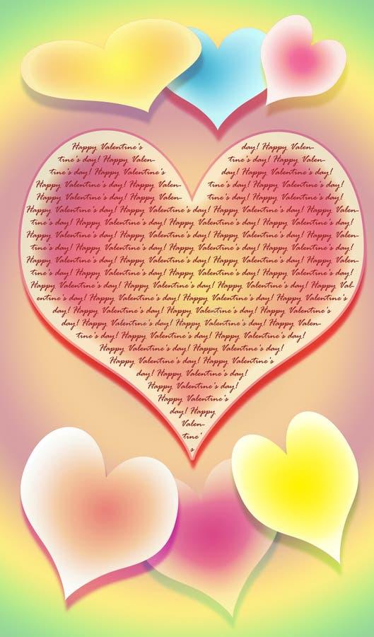 kolorowe tła serce obraz wielo- siedem stylizujący royalty ilustracja