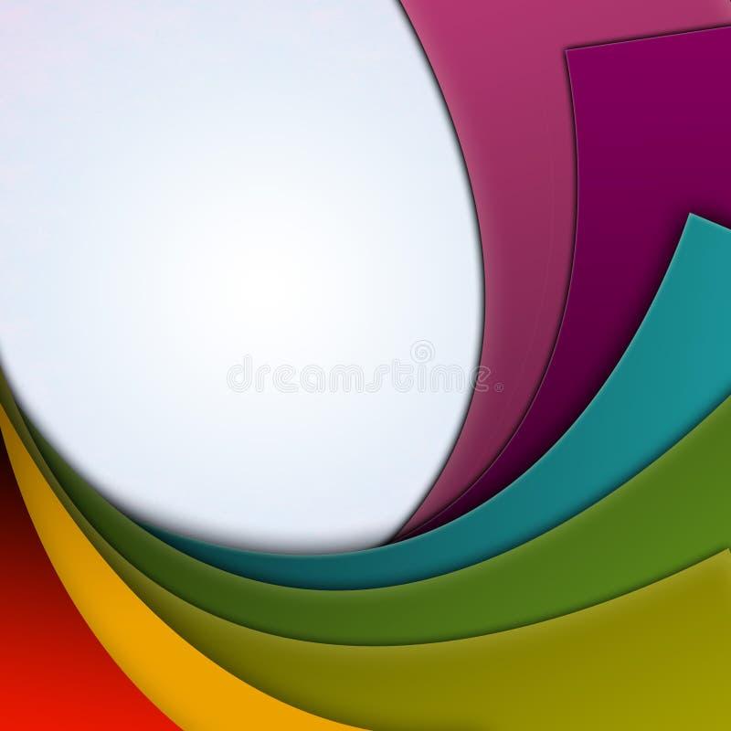 kolorowe tło krzywy ilustracji