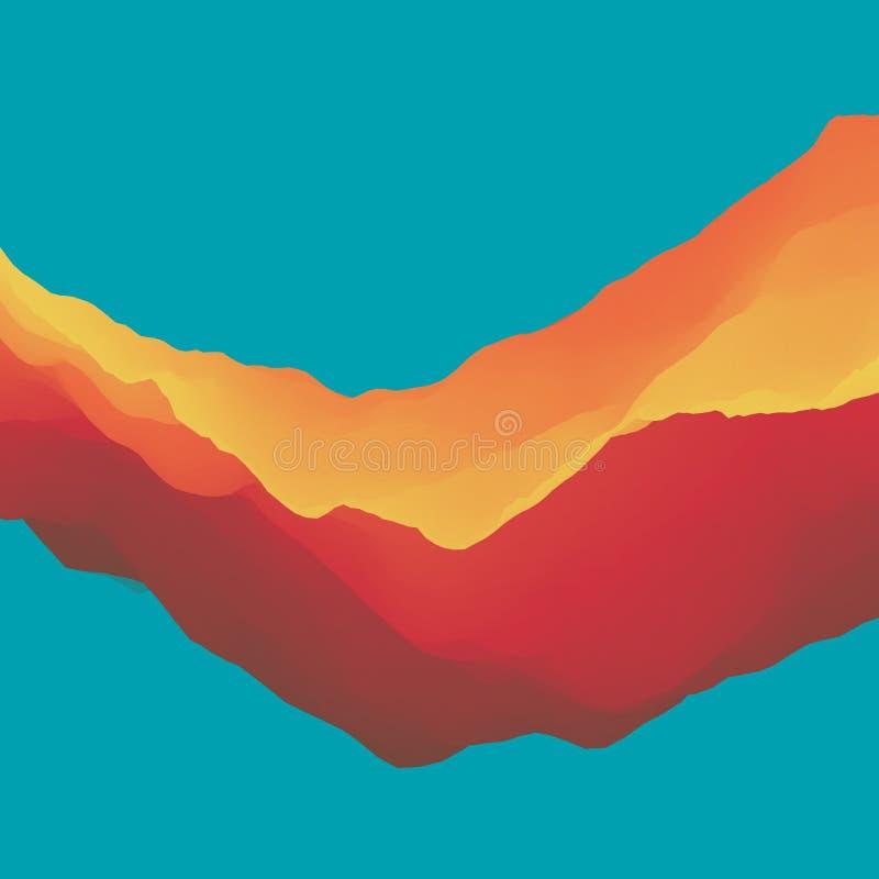 kolorowe t?a abstrakcyjne Dynamiczny skutek Futurystyczny technologia styl Ruchu wektoru ilustracja ilustracji