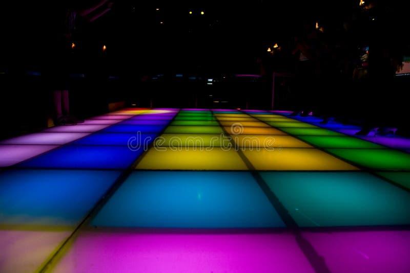 kolorowe taniec disco podłogę oświetlenia fotografia royalty free