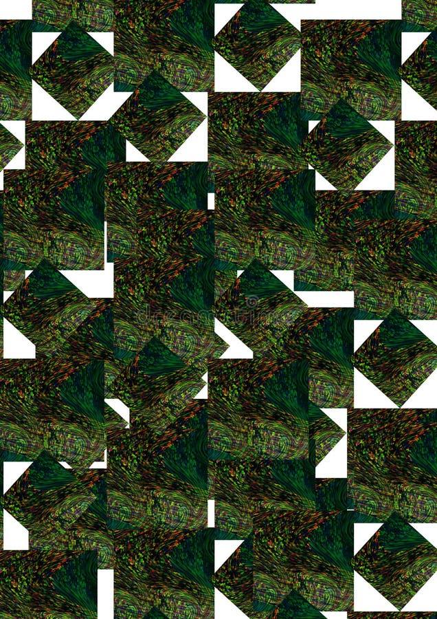kolorowe textured t?a kwadratowi projektów wizerunki ilustracja wektor