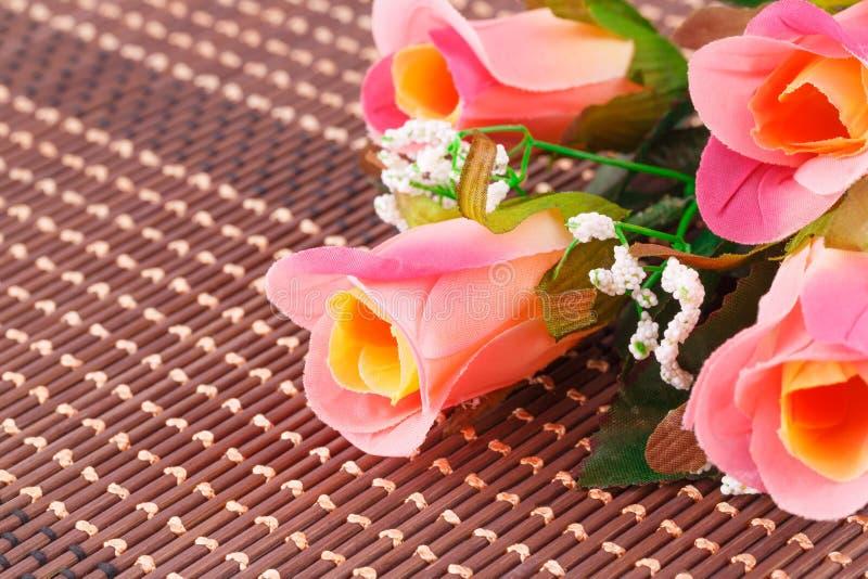 Kolorowe tkanin róże zdjęcie royalty free