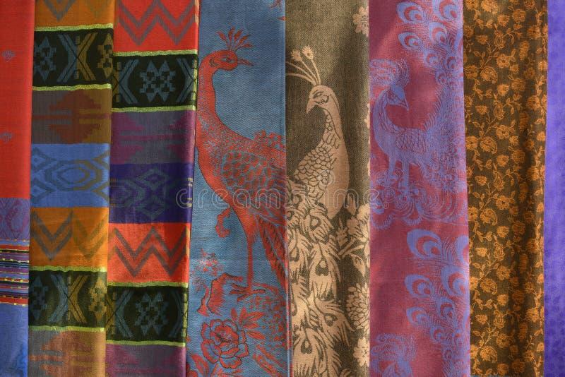 kolorowe tkaniny schematu zdjęcia royalty free