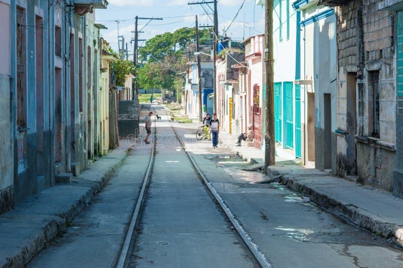 Kolorowe ulicy w Kuba fotografia stock